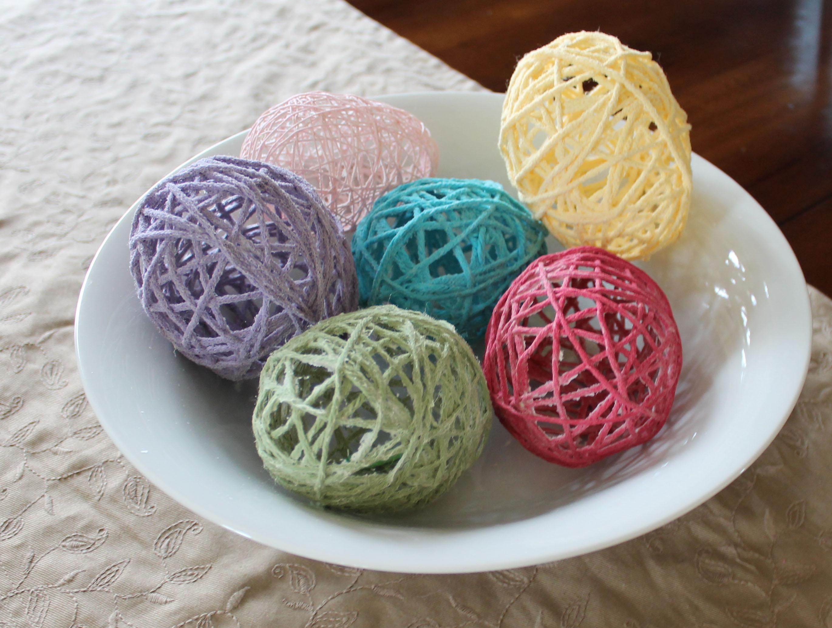 Yarn balloon eggs ipinnedit